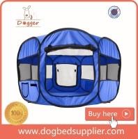 Folding Playpen for Pets Portable Dog Cat Pet Play Pen Pet Cage Tent Kennel Crate Blue Carry Bag