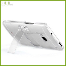 Wholesale cell phone case for htc one m7, pc phone case with holder for htc