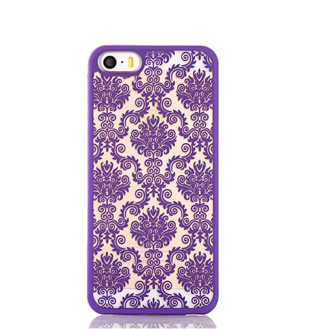 Hot Sell Flower Hard Plastic Cell Phone Case for Apple iPhone 5 5s
