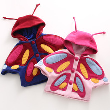 S65314A kids baby cartoon butterfly pattern cape cloaks