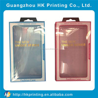 Transparent PVC/PET packaging box for phone case