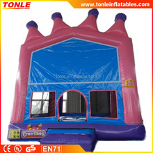 high quality pink crown inflatable bouncer/ jumping bouncy castle/ bounce house jumper moonwalk trampoline china supplier