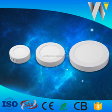Factory new design led panel light 12w round surface for office/home decoration