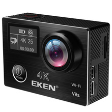 Original EKEN V8S Dual screen Ambarella A12 chip Sports Action Camera 4k 25fps 1080p 60fps EIS With Multi Accessories