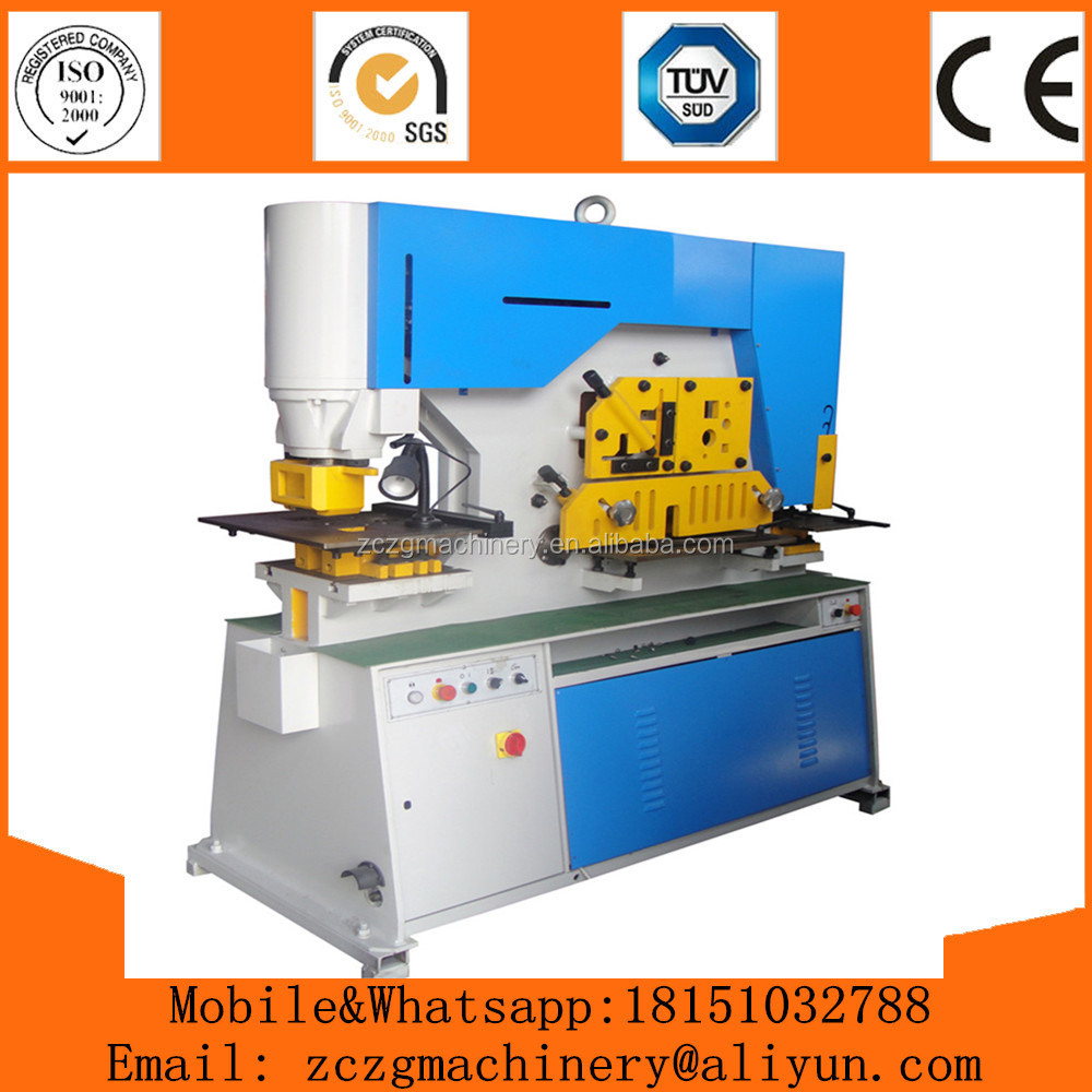 ZCZG Brand Q35Y-16 wrought iron machine, Multi Function Ironworker Punching Machine