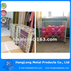 Metal free standing pillow and toy display stand rack