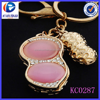 Hot Sale Cute Greatly large Pink acrylic 3D printing metal keychains