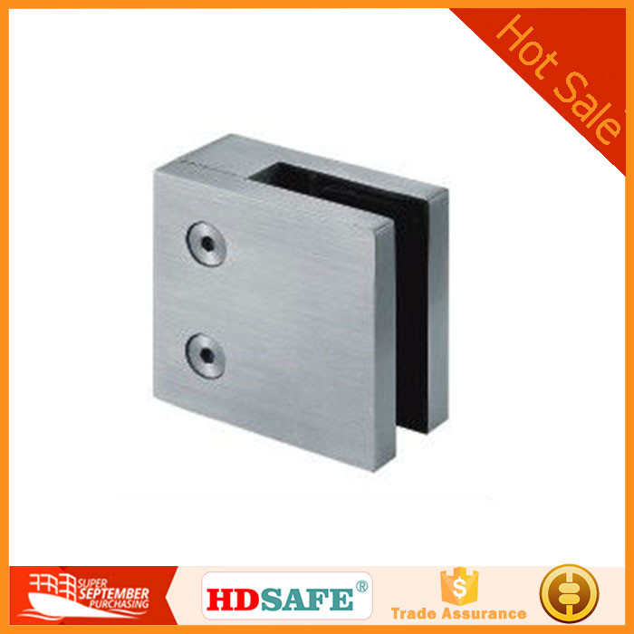 stainless steel glass fitting for balustrade, handrail railing post clamp