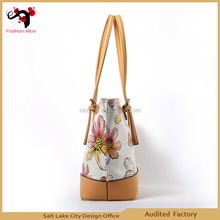 Newest pictures lady fashion Pattern 100% genuine leather handbag