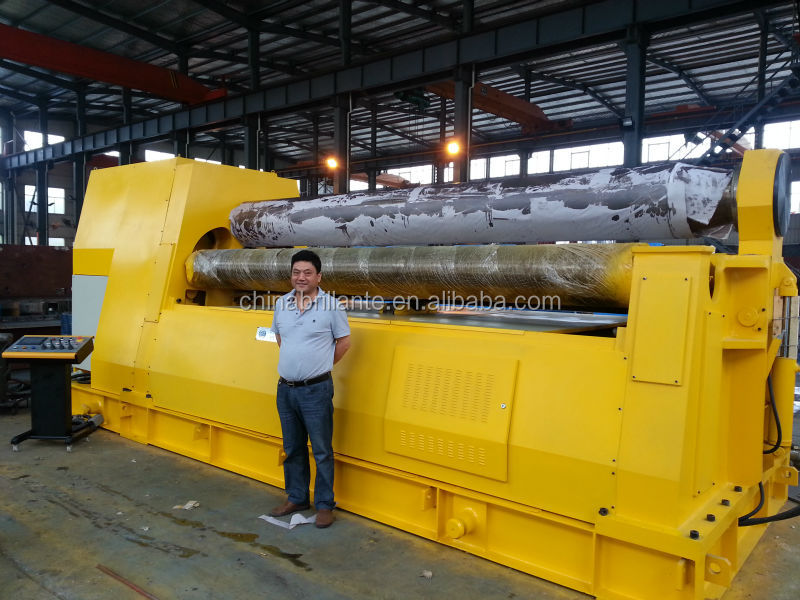 NANTONG: <strong>W11S</strong> 150x3200 3-Roller Upper Roller Universal <strong>Plate</strong> <strong>Rolling</strong> <strong>Machine</strong> with prebending and competive price