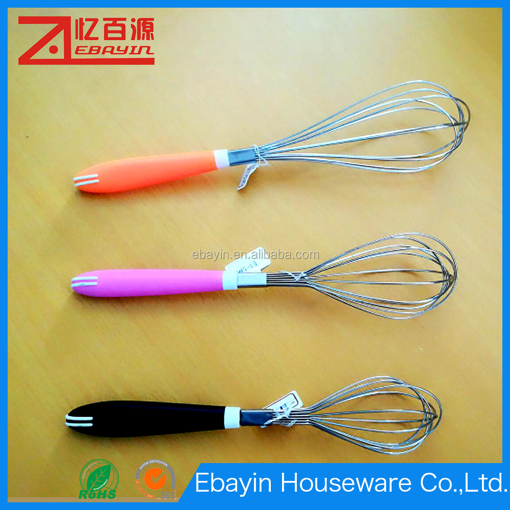 S M L size Egg beater stainless steel treater high quality whisk