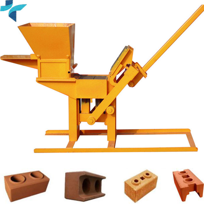 Manual Interlocking Stabilzed Clay Mud Compressed Earth Block Brick Making Machine