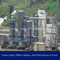 Guangdong Yunfu 200kt/a Sulfuric Acid Plant based on Pyrite