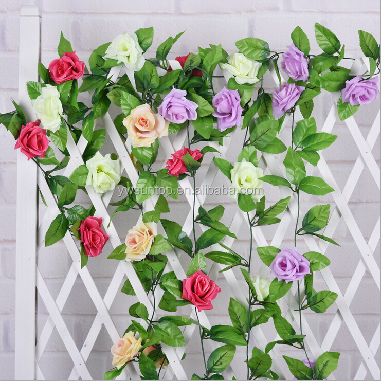 Hot Sale Artificial Rose Flower Wedding Home Decoration Wall Flowers Wholesale
