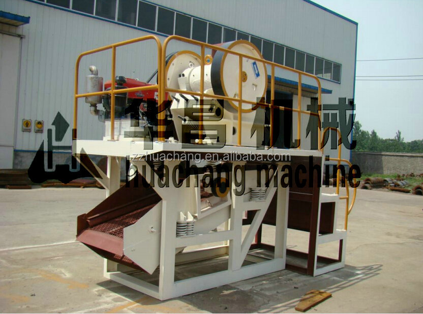 Portable Diesel Engine Mini Primary Small Jaw Crusher Machine Price For Stone Crushing