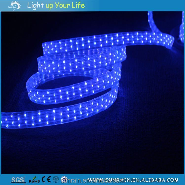 2016 Party Decoration Car Ribbon Tape Rope Lighting Flat 4 Wires LED Rope Light