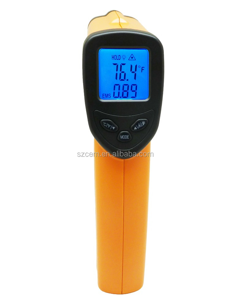 ABS,Plastic Material and Other Thermometer Use non-contact digital infrared thermometer Amazon hot model!-50-380 Degree DT8380H