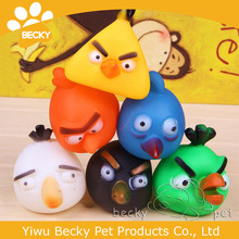 Eco-friendly Dog Rubber Toy Bird Face Pet Toy Vinyl Toy Pet Products