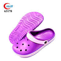 purple bright color simple eva cheap garedenig clogs for women shoes