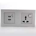 Double USB and 13A 3 Pin universal power socket with on/off switch