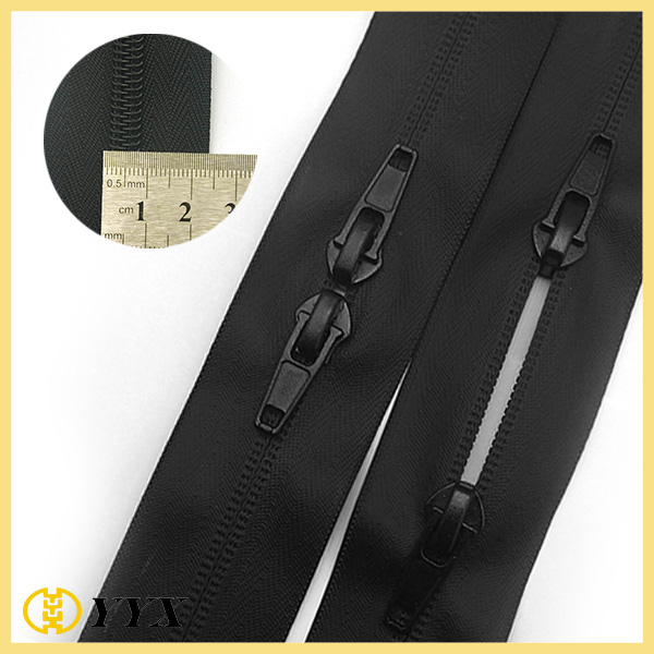 Bag Parts & Accessories Nylon Reverse Coil Zip Double Ended Zipper for Handbags