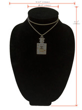 "Rili Black 12"" Height Wooden Neck Bust Jewelry Neck Display"