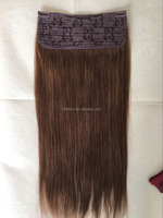Virgin hair tangle free and shedding free can be dyed to any color clip in brazilian hair color dye