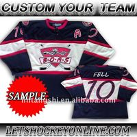 Mens 2016 Custom Design Cheap Sublimation Team Hockey Shirts,Sublimation Polyester Custom Ice Hockey