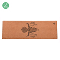 Non-slip Best Natural Rubber Cork Yoga Mat With Private Label