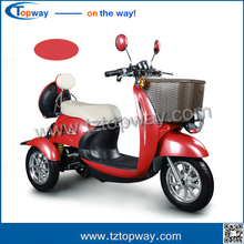 500W 48V 3 wheel disability electric mobility scooter adult tricycle motorcycle