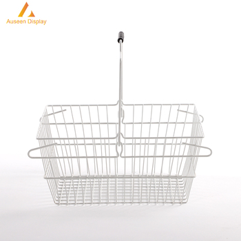 Wire Shopping Baskets Wholesale | Hot Sale Supermarket Shopping Wholesale Metal Wire Shopping Basket