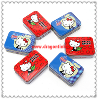 Food grade small cute rectangular metal food tin containers / custom candy sweet packaging boxes