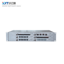 2U WDM integrated platform with network management with dual power supply support DCM EDFA OLP interface card