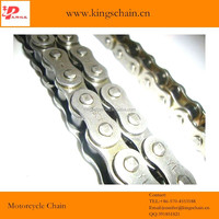 Peru motor parts natural color reinforced motorcycle wheel chain 428H-142L