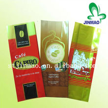Gravure printing side gusset plastic coffee vacuum bag for outer packing