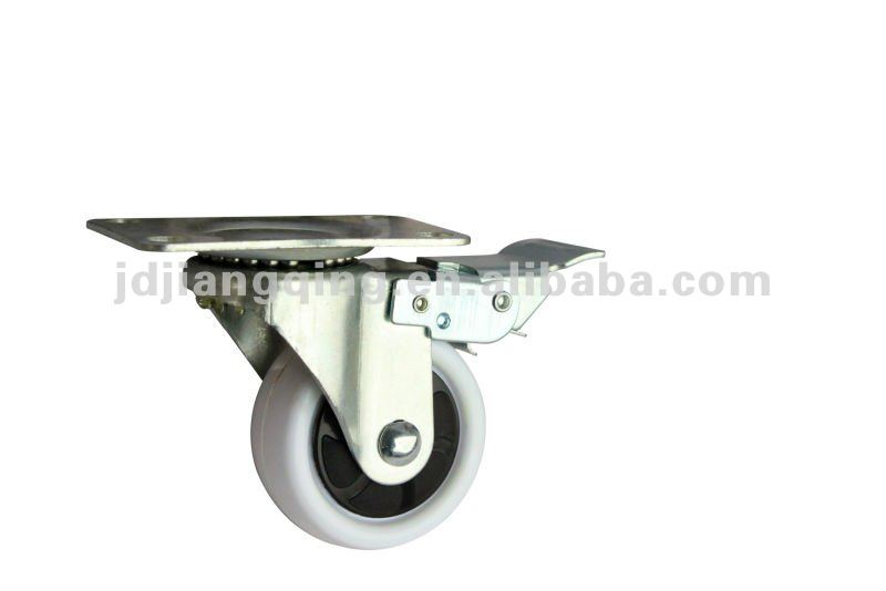 65mm top plate white caster wheel wholesale