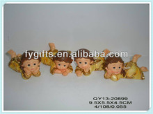 Polyresin lovely baby fairy lying,baby favor decorations