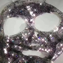 Cosmetic grade Glitter star and hex shape for face mask