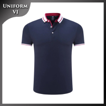100% cotton mens plain customized logo uniform polo shirt