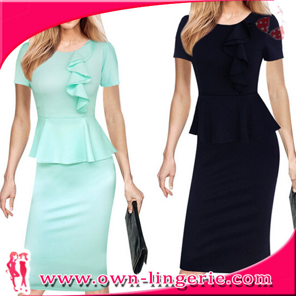 office ladies simple bodycon dress solid colors floral designs formal dinner party office dresses