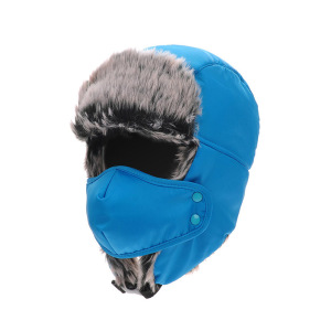Winter Russian Faux Fur Fitted Bomber Hats Cap With Earflaps