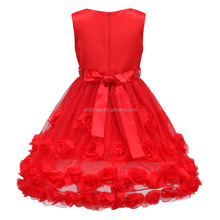 Girl wedding wear western dress children girl long frock suit designs for party girls