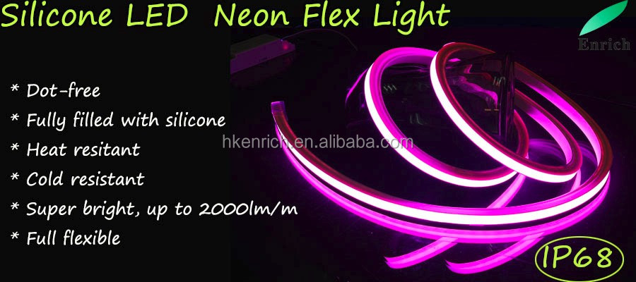 Silicone flex led neon DC24V with IP68