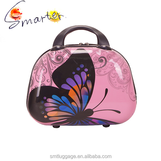 beauty cosmetic case with butterfly printing
