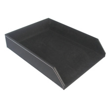 Office stationery desktop organize leather letter tray leather file tray