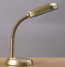 Adjust brass reading table lamp