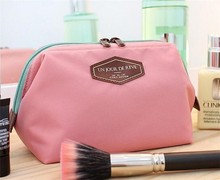 wholesale women canvas cosmetic organizer bag fashion travel pouch makeup bag