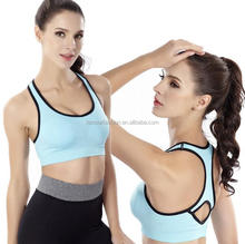 Running gym fitness sports bra yoga women sexy nude bra workout vest
