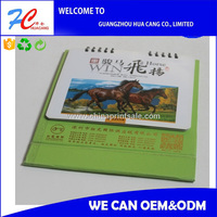 calendar spiral bound desk calendar made in China with high quality