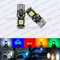 Factory supply T10 5 SMD 5050 LED Car Light Canbus T10 194 W5W 5050 Wedge Light Bulb Lamp Blue/Yellow/Red/Green/white Error free